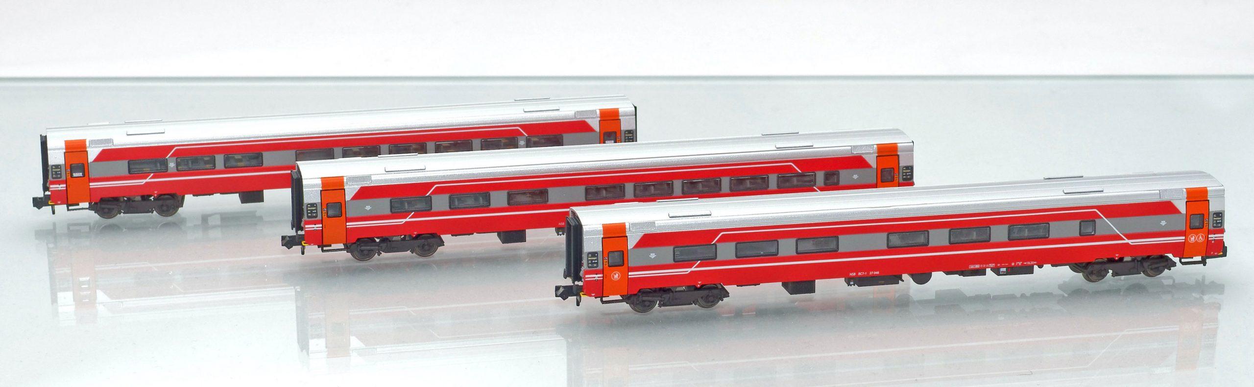 Set 188691: NSB Expresszugwagen B7-6,A7-1 und BC7-1