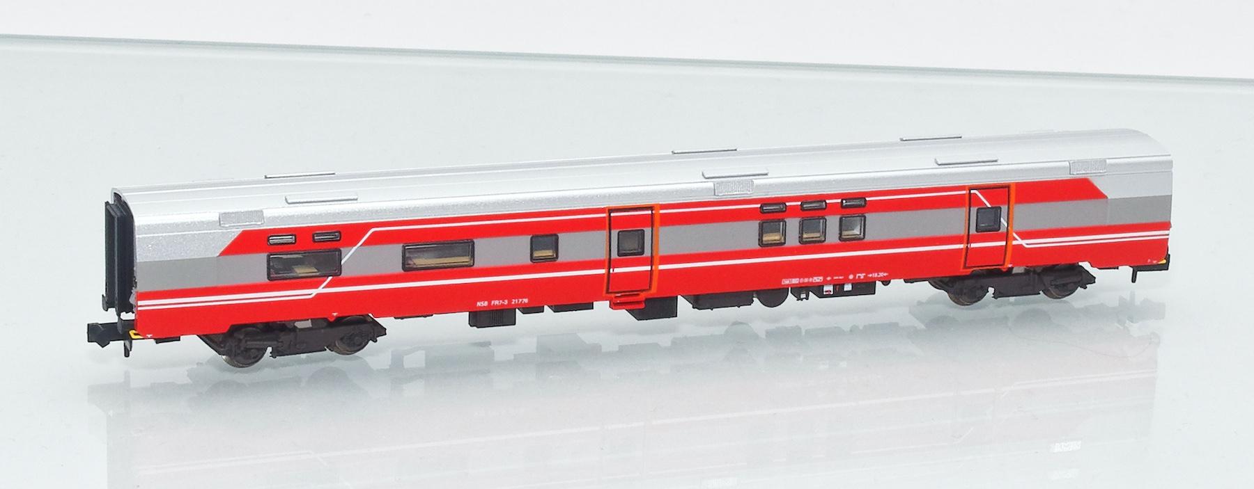 Set 188692: NSB Expresszug-Speisewagen FR7-3mit passender Lok El18