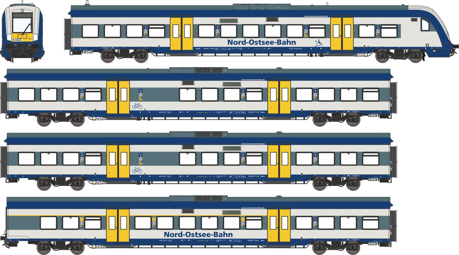 59101: Grund-Wagenset Marschbahn NOB (Wechselstrom)