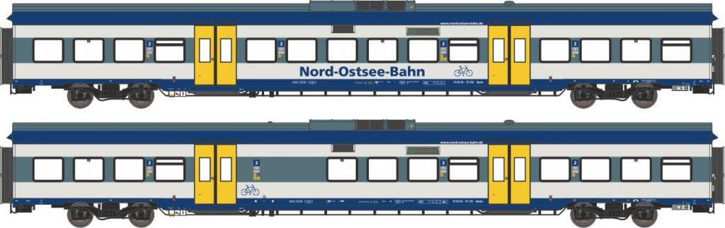 """Ergänzungs-Wagenset """"Marschbahn"""" der Nord-Ostsee-Bahn in der Ausführung von 2006 bis ca. 2010"""