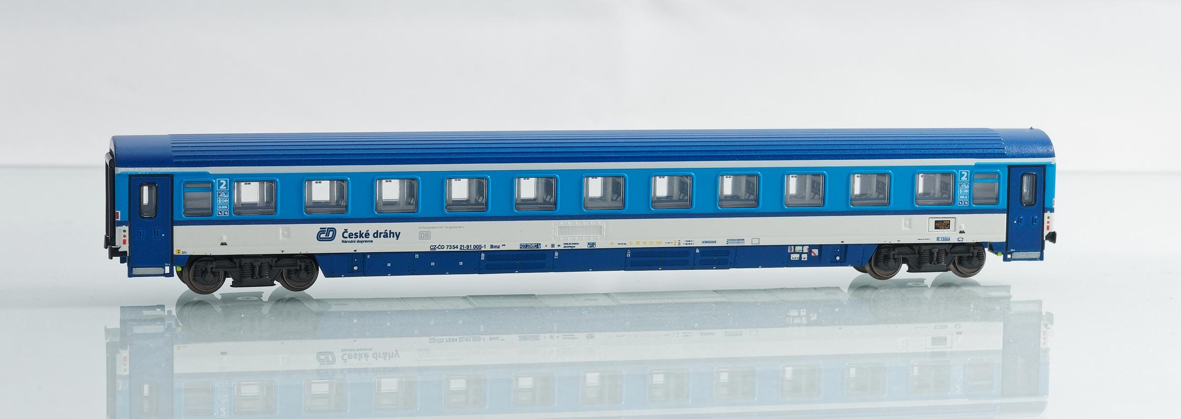 195428:EuroCity-Abteilwagen 2. Klasse, Bauart Bmz 245 der Tschechischen Eisenbahnen ČD