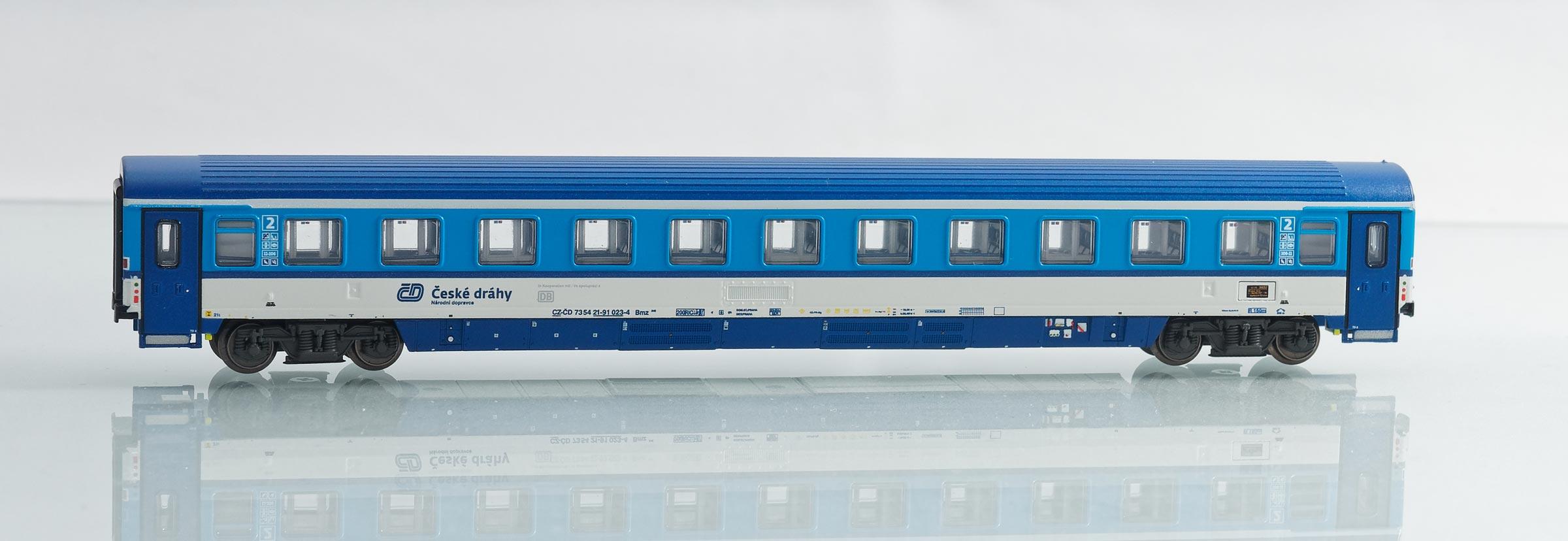 195429:EuroCity-Abteilwagen 2. Klasse, Bauart Bmz 245 der Tschechischen Eisenbahnen ČD