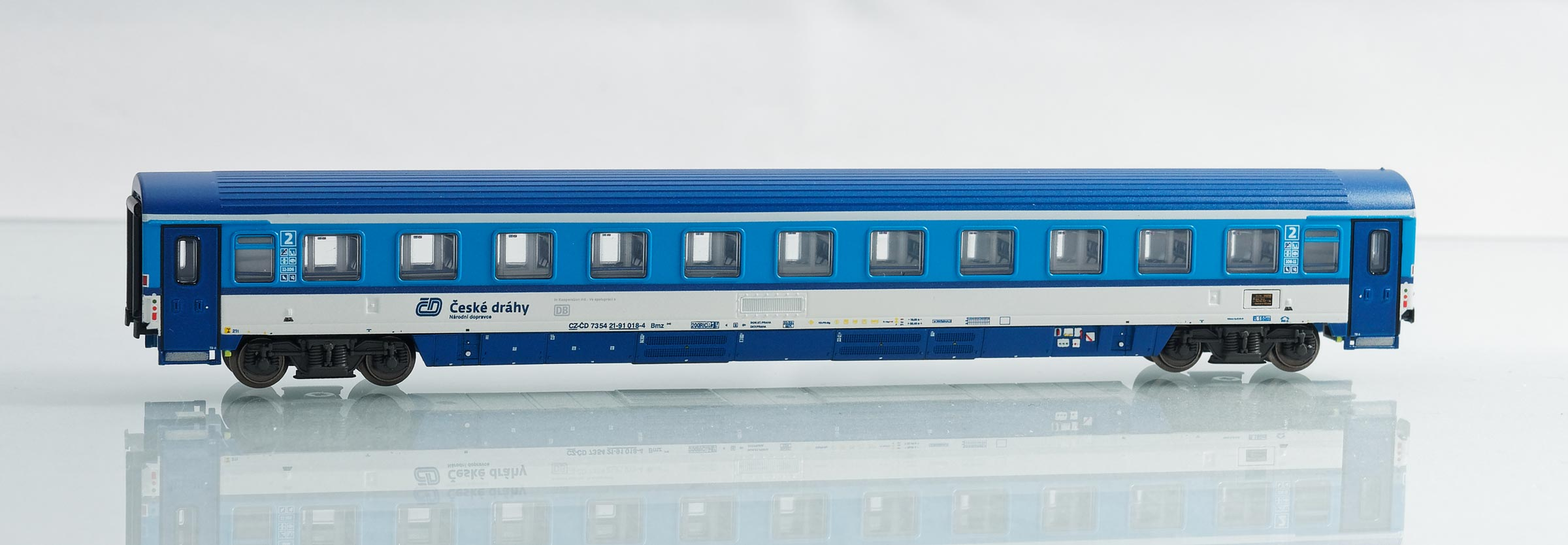 195430: EuroCity compartment car 2. class, type Bmz 245 of the Czech Railways CD