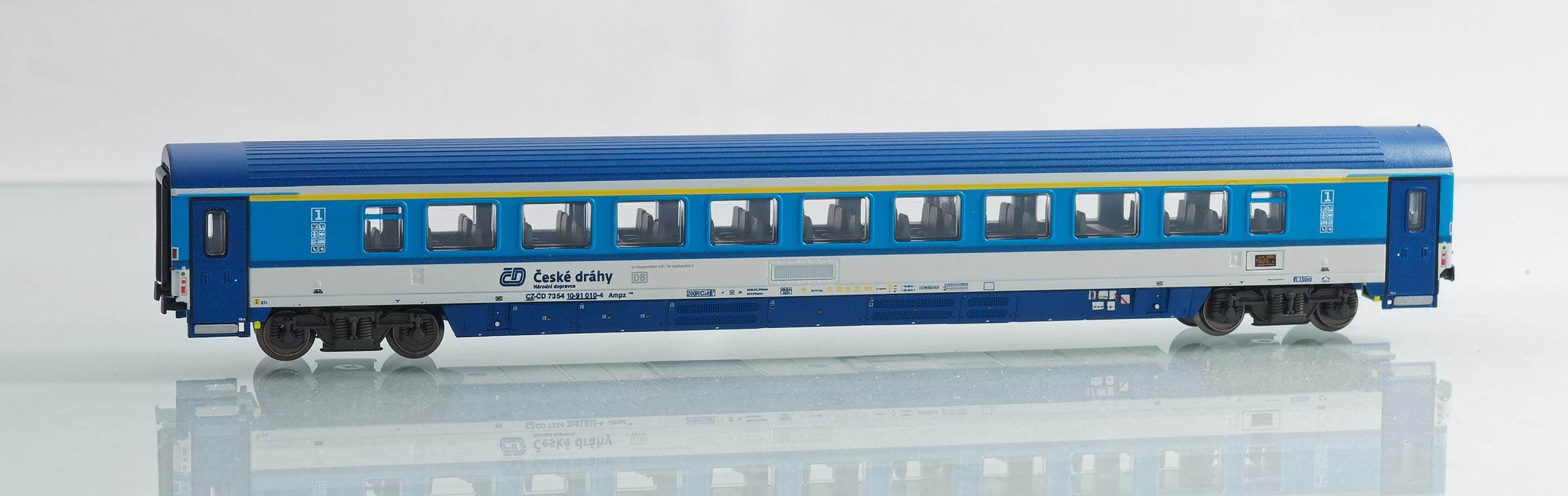 195452: EuroCity-Großraumwagen 1. Klasse, Bauart Ampz 143 der Tschechischen Eisenbahnen ČD